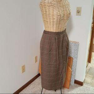 NWOT High Waisted Vintage Pendleton wool Skirt